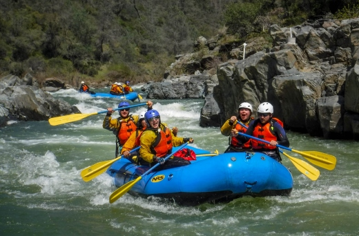rafting the South Fork of the American River